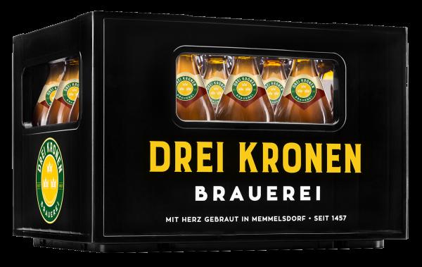 """Fränkisches Bier online bestellen - Bierkasten mit der Aufschrift """"Drei Kronen Brauerei"""""""