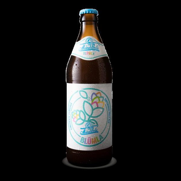 """Handwerklich gebrautes fränkisches Bier """"Blümla"""" von der Brauerei Meinel Bräu"""
