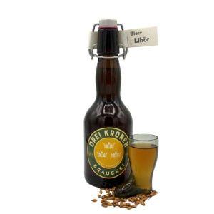 Hausgemachter Bierlikör aus fränkischem Lagerbier