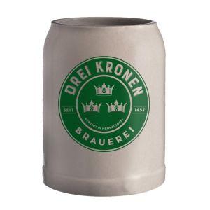 Fränkischer Steinzeug Bierkrug - Brauerei Drei Kronen