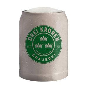 Typisch fränkischer Steinzeug Bierkrug - Brauerei Drei Kronen